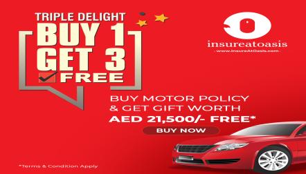 Motor Insurance Premium from 630AED | InsureAtOasis