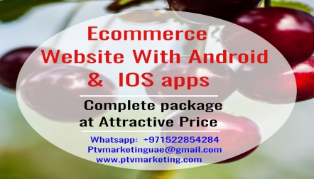 Ecommerce Website with Android  IOS App