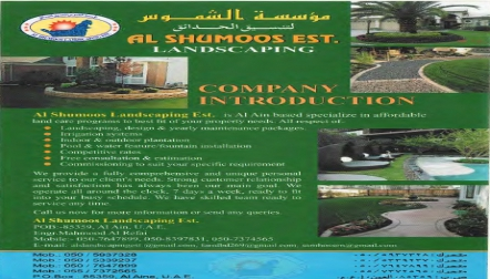 Expart of Irrigation, Landscape and gardening of works