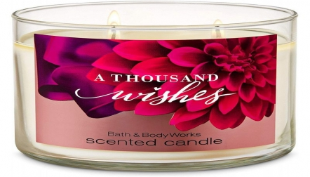 Bath And Body Works A Thousand Wishes 3wick Scented Candle