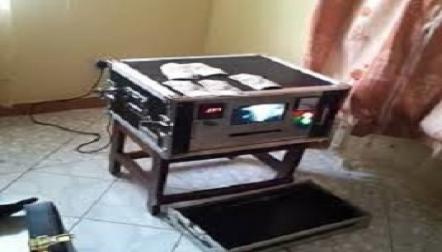 laser jet machine for cleaning black money