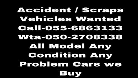 DUBAI UAE,055 6863133 WE BUY DAMAGE AND SCRAP CARS
