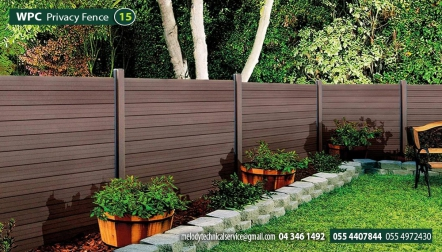 Composite Wood Fence | WPC Privacy Fence Suppliers in UAE |