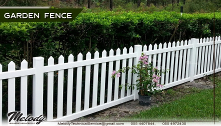 Wooden Garden Fence | Picket Fence Dubai | Fence suppliers