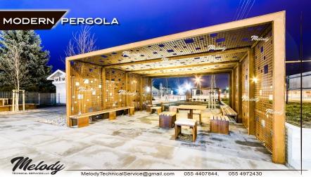 Modern Pergola | Modern Pergola in Garden Dubai |