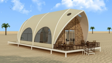Resort Tents for an outdoor gathering, glamping and events