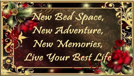 New Bed Space, New Adventure, New Memories, Live Your Best L