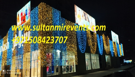 Sultan Mir Decoration Rental Lights and sale shop Dubai