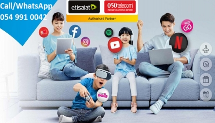 Call Us at +971 54 991 0042 for Etisalat eLife Home Internet Services